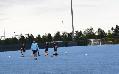 LCH students get training tips at Manchester City's campus