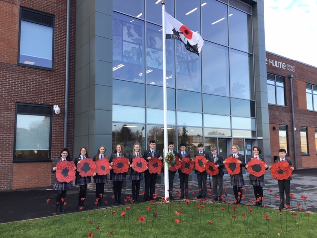 Students mark Remembrance Day with moving poppy display