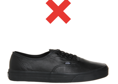 Unapproved shoe 3